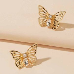 Anthropologie Butterfly Studs